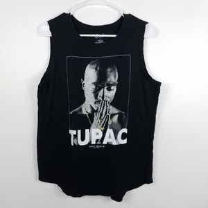 Bravado Tupac Shakur Praying Hands B&W Tank Top
